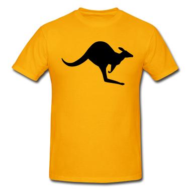 Gold-australian-kangaroo-t-shirts